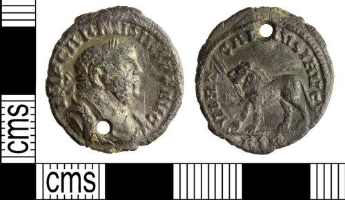 WILT-0FA13F: Roman coin: Denarius of Carausius
