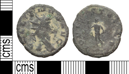 A resized image of Roman coin: radiate of Gallienus