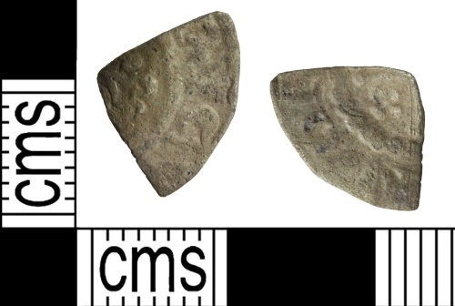 WILT-32D59A: Medieval coin: Cut farthing of Henry II Henry III