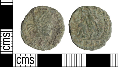 WILT-41CB4A: Roman coin: Nummus of the House of Constantine