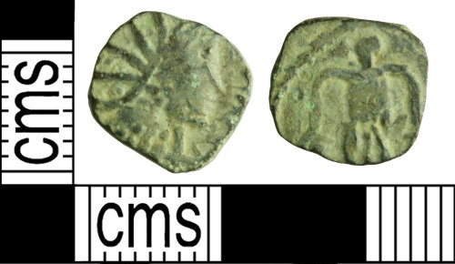 WILT-5AE793: Roman coin: radiate copying an uncertain ruler