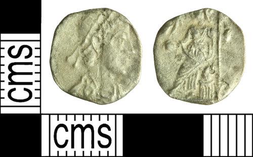 WILT-71EC65: Roman coin: Siliqua of the House of Theodosius