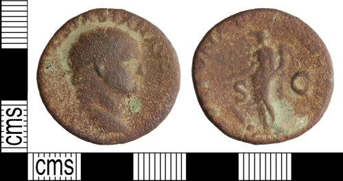 WILT-963B7C: Roman coin: Dupondius of Vespasian