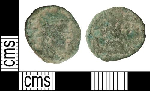 WILT-98E179: Roman coin: Radiate of an uncertain ruler