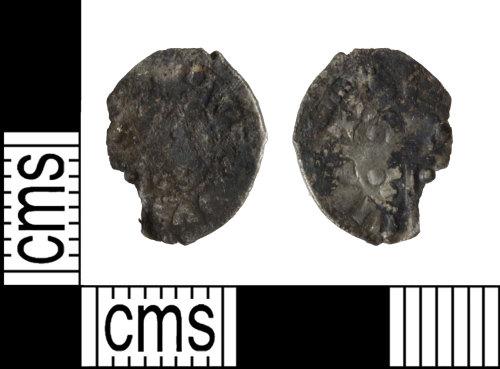 WILT-A678E9: Medieval coin: Halfpenny of Edward III