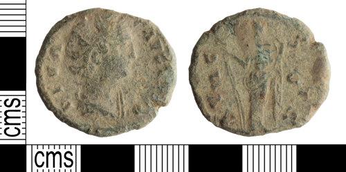 WILT-AC4A25: Roman coin: Dupondius of Faustina I