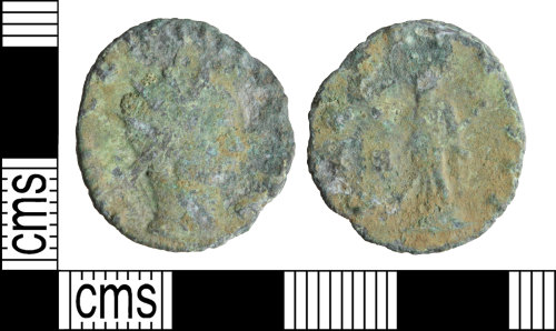 A resized image of Roman coin: Radiate of Claudius II