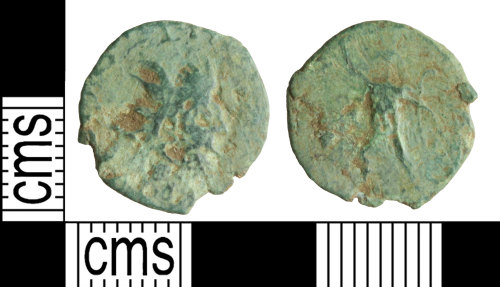 WILT-B3E889: Roman coin: Barbarous radiate copying Victorinus