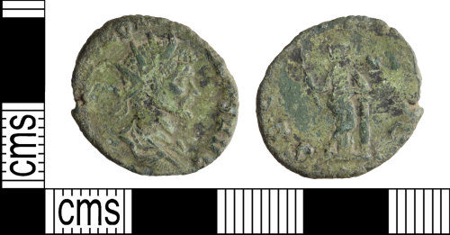 WILT-D0E3DE: Roman coin: Radiate of Quintillus