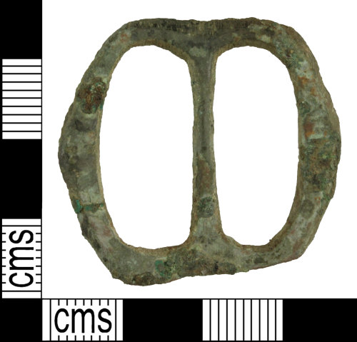 WILT-D3CFCB: Post-medieval double loop buckle