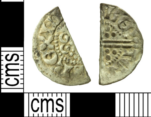 WILT-E03B26: Medieval coin: Cut halfpenny of Henry III