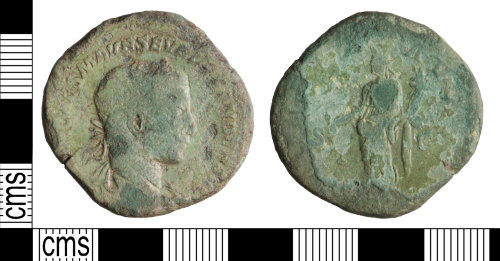 A resized image of Roman coin: Sestertius of Severus Alexander