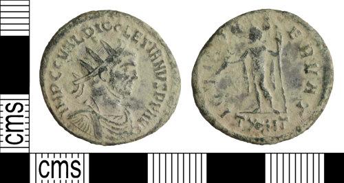 WILT-EA79C9: Roman coin: Radiate of Diocletian