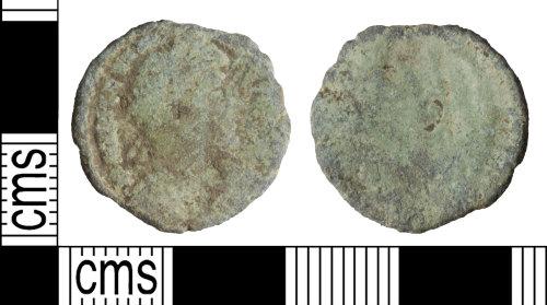 WILT-ED6B98: Roman coin: Nummus of the House of Valentinian