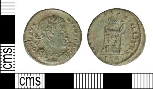 WILT-FD832A: Roman coin: nummus of Constantine I