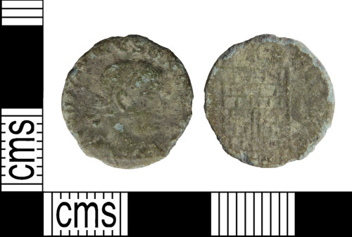 WILT-FDBBD8: Roman coin: Nummus of the House of Constantine