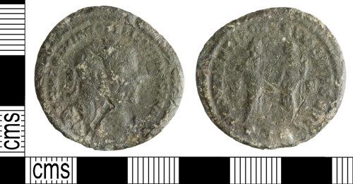 WILT-FFF2F2: Roman coin: Nummus of MaximiaN