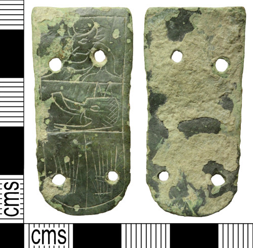 A resized image of Medieval strap end