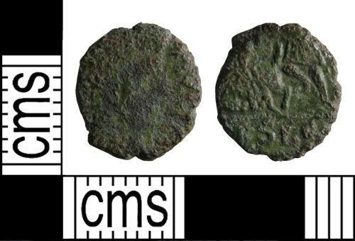 WMID-49E8F6: Roman coin: Nummus of the House of Constantine