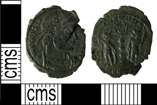 WMID-4C5846: Roman coin: Nummus of the House of Constantine