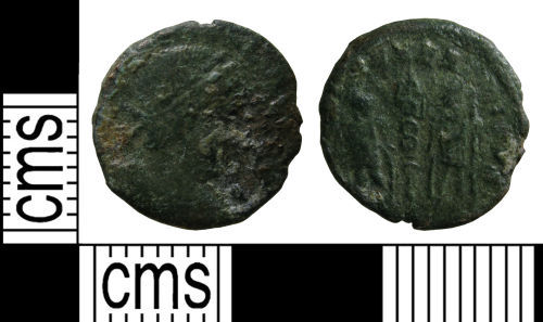 WMID-4CE8E3: Roman coin: Nummus of the House of Constantine