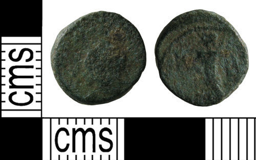 WMID-4F2EC3: Roman coin: Nummus of the House of Theodosius