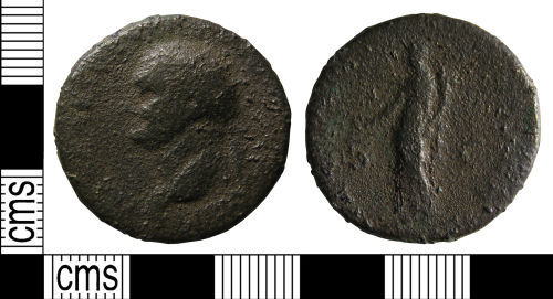 NCL-3FE8D4: Roman coin:Dupondius of Vespasian