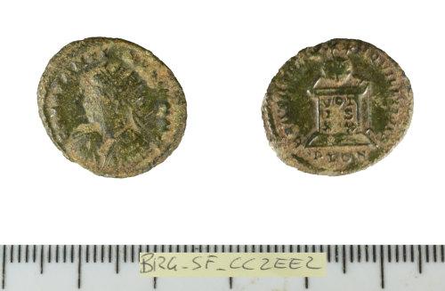 SF-CC2EE2: Roman coin: nummus of Constantine II