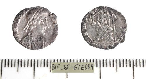 SF-6FE009: Roman coin: Siliqua of Honorius