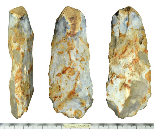 SF-85FC79: Mesolithic to early Neolithic flint adze.