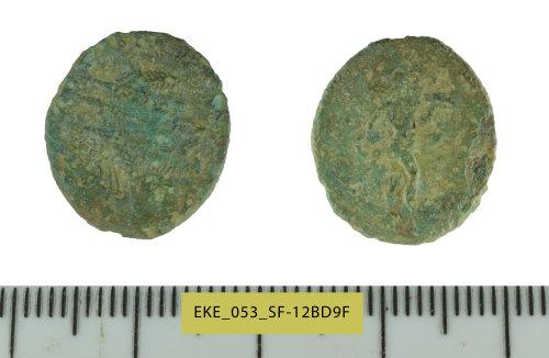 SF-12BD9F: Roman coin: radiate of Claudius II