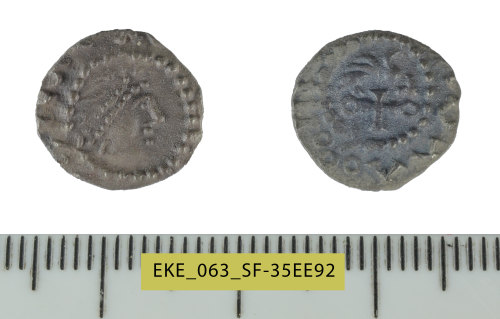 SF-35EE92: Early Medieval (Anglo-Saxon) coin: silver sceat