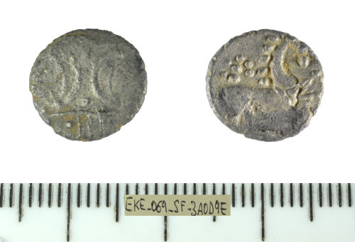 SF-3A0D9E: Iron Age coin: unit of the East Anglian region, for Ecen