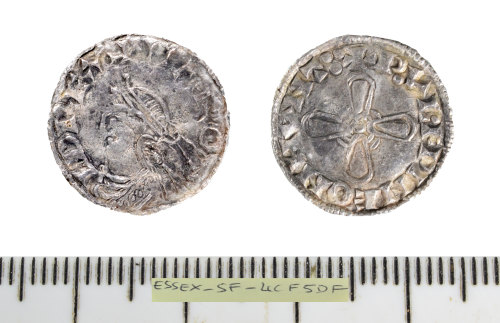 SF-4CF5DF: Early Medieval coin: penny of Harold I.