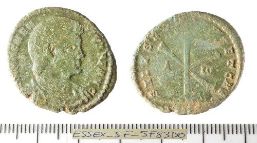 SF-5F83D0: Roman coin: nummus of Magnentius.