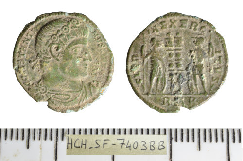 SF-7403BB: Roman coin: nummus of Constantine I.