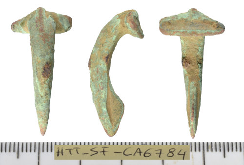 SF-CA6784: Roman brooch of the Colchester derivative rear hook Type.