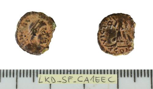 SF-CA1EEC: Roman coin:  nummus of Arcadius.