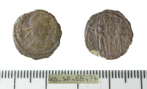 SF-E8E477: Roman coin: nummus of Constantius II.