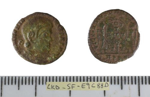 SF-E9C88D: Roman coinj: nummus of Magnentius.
