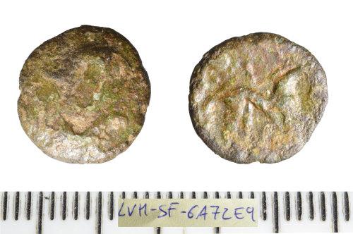 SF-6A72E9: Iron Age coin: bronze unit of the North Thames region.