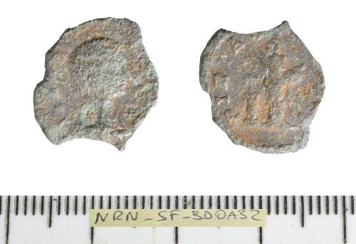SF-3D0A32: Romna coin: debased denarius of Julia Domna.