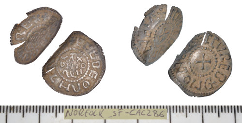 A resized image of Early Medieval (Anglo Saxon) coin: penny of Ecgberht.