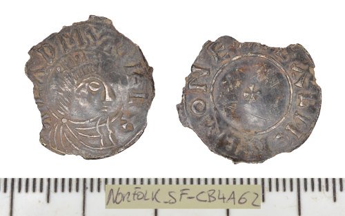 SF-CB4A62: Early Medieval (Anglo-Saxon) coin:  penny of Edmund I.