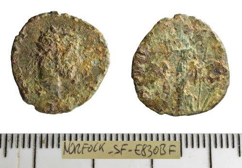 SF-E830BF: Roman coin: contemporary copy of a radiate (Barbarous radiate).