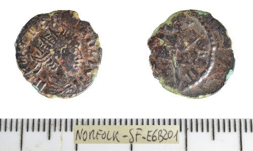 SF-E6B201: Roman coin: contemporaru copy of a radiate (Barbarous radiate)