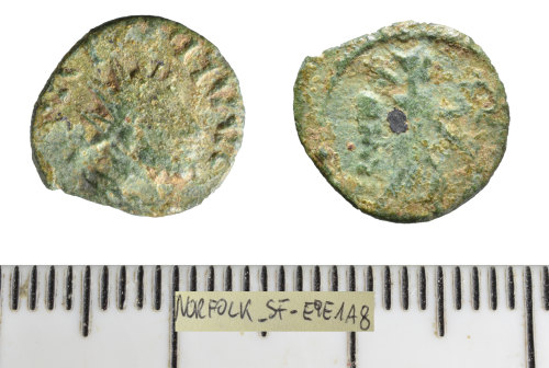 A resized image of Roman coin: contemporary copy of a radiate (Barbarous radiate).