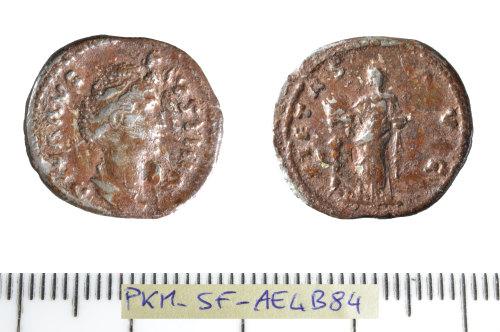 SF-AE4B84: Roman coin: denarius of Faustina I.