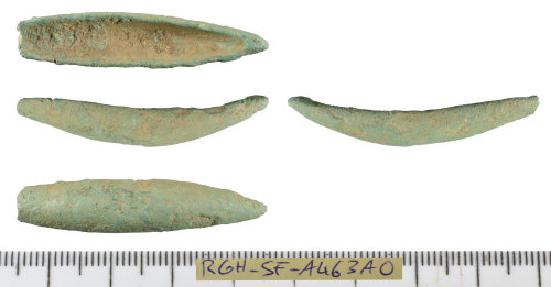 SF-A463A0: Late Iron Age to Roman end-looped cosmetic mortar.