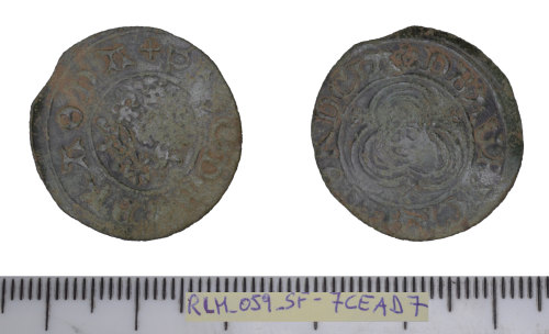 SF-7CEAD7: Post-Medieval jetton: Nuremberg of the 'Rose/orb' type,
